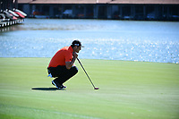 Jon Rahm (ESP) lines up his putt on 12 during round 2 of the World Golf Championships, Dell Technologies Match Play, Austin Country Club, Austin, Texas, USA. 3/23/2017.<br /> Picture: Golffile | Ken Murray<br /> <br /> <br /> All photo usage must carry mandatory copyright credit (&copy; Golffile | Ken Murray)