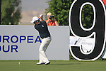 Damien McGrane tees off on the 9th tee during Day 1 of the Dubai World Championship, Earth Course, Jumeirah Golf Estates, Dubai, 25th November 2010..(Picture Eoin Clarke/www.golffile.ie)