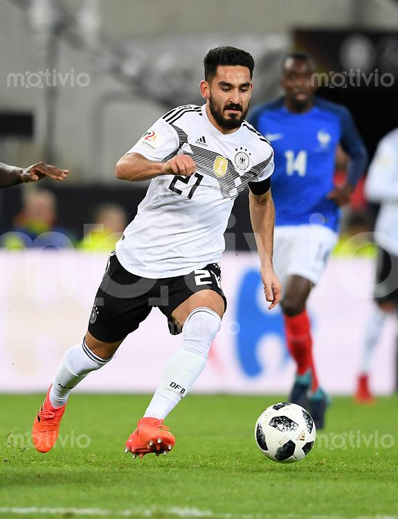 FUSSBALL  INTERNATIONAL TESTSPIEL  IN KOELN   Deutschland - Frankreich        14.11.2017 Ilkay Guendogan (Deutschland)