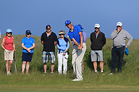 Christo Lamprecht (RSA) chipping onto the 18th green during Round 4 of the East of Ireland Amateur Open Championship 2018 at Co. Louth Golf Club, Baltray, Co. Louth on Monday 4th June 2018.<br /> Picture:  Thos Caffrey / Golffile<br /> <br /> All photo usage must carry mandatory copyright credit (&copy; Golffile | Thos Caffrey)