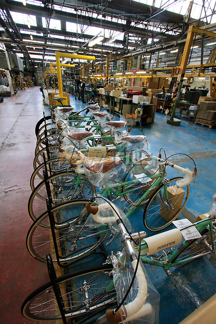 Bianchi L'Eroica special customer bikes ready to ship from the Bianchi Factory, Treviglio, Italy. 30th September 2015.<br /> Picture: Eoin Clarke | Newsfile