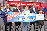 Winner of this weeks BuyKerry Noreen O'Doherty, Firies, pictured with Shaz Malik, Kerry Eye, Brendan Kennelly, Sales Executive Kerrys Eye, Michael O'Brien, Dalys Supervalu, Killarney and Margaret Moynihan, Killarney Credit Union.