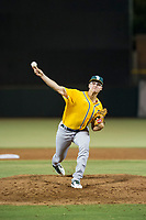 AZL Athletics relief pitcher Caleb Evans (40) delivers a pitch to the plate against the AZL Giants on August 5, 2017 at Scottsdale Stadium in Scottsdale, Arizona. AZL Athletics defeated the AZL Giants 2-1. (Zachary Lucy/Four Seam Images)