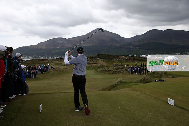 Paul McGinley (IRL) drives down the 8th during Round Three of the 2015 Dubai Duty Free Irish Open Hosted by The Rory Foundation at Royal County Down Golf Club, Newcastle County Down, Northern Ireland. 30/05/2015. Picture David Lloyd | www.golffile.ie
