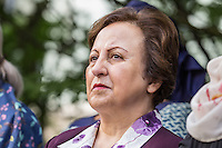 NEW YORK CITY, UNITED STATES SEPTEMBER 16, 2016: Novel Peace Price Shirin Ebadi during the Peace Bell Ceremony to commemorate the International Day of Peace at the United Nations in New York. Photo by VIEWpress/Maite H. Mateo