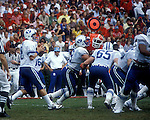 Young, Steve vs. Georgia '82<br /> <br /> BYU vs Georgia. 8 Steve Young. 65 Neils Tidwell<br /> <br /> September 11, 1982<br /> <br /> Photo by Mark Philbrick/BYU<br /> <br /> &copy; BYU PHOTO 2009<br /> All Rights Reserved<br /> photo@byu.edu  (801)422-7322