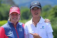 Annika Sorenstam & Grace Kim. 2018 Annika Australiasia Invitational Junior-Am at Royal Wellington Golf Club in Upper Hutt, Wellington, New Zealand on Saturday, 15 December 2018. Photo: Dave Lintott / lintottphoto.co.nz