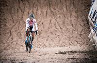 Ceylin Del Carmen Alvarado (NED/Corendon-Circus) in the infamous 'Pit'<br /> <br /> <br /> CX Superprestige Zonhoven (BEL) 2019<br /> women's race