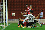 12th September 2017, Oakwell, Barnsley, England; Carabao Cup, second round, Barnsley versus Derby County; Mason Bennett of Derby County scores 2-1