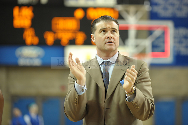 Kentucky's UK head coach Matthew Mitchell after the University of Kentucky Women's basketball game against Mississippi State at Memorial Coliseum in Lexington, Ky., on 1/8/12. Uk won the game 88-40. Photo by Mike Weaver | Staff
