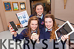 Two group from Causeway Comprehensive school have had their projects accepted into the BT Young Scientist Award competition. Pictured were: Breanne Barrett, Aoife Mahony and Roisin Stack.
