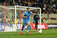 HARRISON, NJ - MARCH 11: Maxime Chanot #4 of NYCFC during a game between Tigres UANL and NYCFC at Red Bull Arena on March 11, 2020 in Harrison, New Jersey.