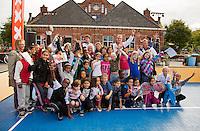 13-09-12, Netherlands, Amsterdam, Tennis, Daviscup Netherlands-Swiss, Draw   Streettennis