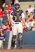 Catcher Jace Whitmer #40 of the Rome Braves at State Mutual Stadium July 24, 2010, in Rome, Georgia.  Photo by Brian Westerholt / Four Seam Images