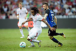 Bayern Munich Midfielder Renato Sanches (L) fights for the ball with FC Internazionale Midfielder Marcelo Brozovic (R) during the International Champions Cup match between FC Bayern and FC Internazionale at National Stadium on July 27, 2017 in Singapore. Photo by Weixiang Lim / Power Sport Images