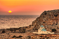 The sunset in Finiki of Karpathos, Greece