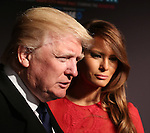Donald Trump and Melania Trump attends the Opening Night performance of 'New York Spring Spectacular' at Radio City Music Hall on March 26, 2015 in New York City.