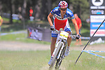 27.07.2013 La Massana, Andorra. UCI Mountain Bike World Cup. Picture show Julien Absalon (FRA) in action during Cross-Country Final at Vallnord
