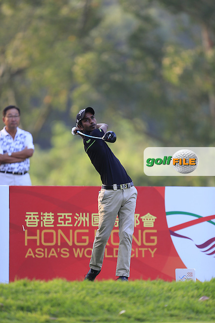 Rashid Khan (IND) on the 11th tee during Round 1 of the 2015 UBS Hong Kong Open at the Hong Kong Golf Club in The Netherlands on 2/10/15.<br /> Picture: Thos Caffrey | Golffile