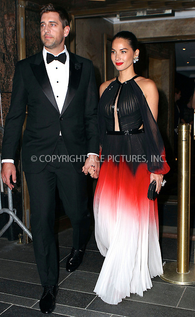 WWW.ACEPIXS.COM<br /> <br /> May 4 2015, New York City<br /> <br /> Olivia Munn on the night of the Met Gala on May 4 2015 in New York City<br /> <br /> By Line: Nancy Rivera/ACE Pictures<br /> <br /> <br /> ACE Pictures, Inc.<br /> tel: 646 769 0430<br /> Email: info@acepixs.com<br /> www.acepixs.com