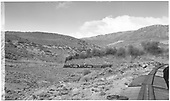 View of freight train from caboose.<br /> D&amp;RGW  Cerro Hill, CO  Taken by Richardson, Robert W. - 10/14/1945