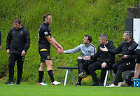 Team Wellington's Hamish Watson is subbed off during the ISPS Handa Premiership football match between Team Wellington and Wellington Phoenix Reserves at David Farrington Park in Wellington, New Zealand on Sunday, 17 November 2019. Photo: Dave Lintott / lintottphoto.co.nz