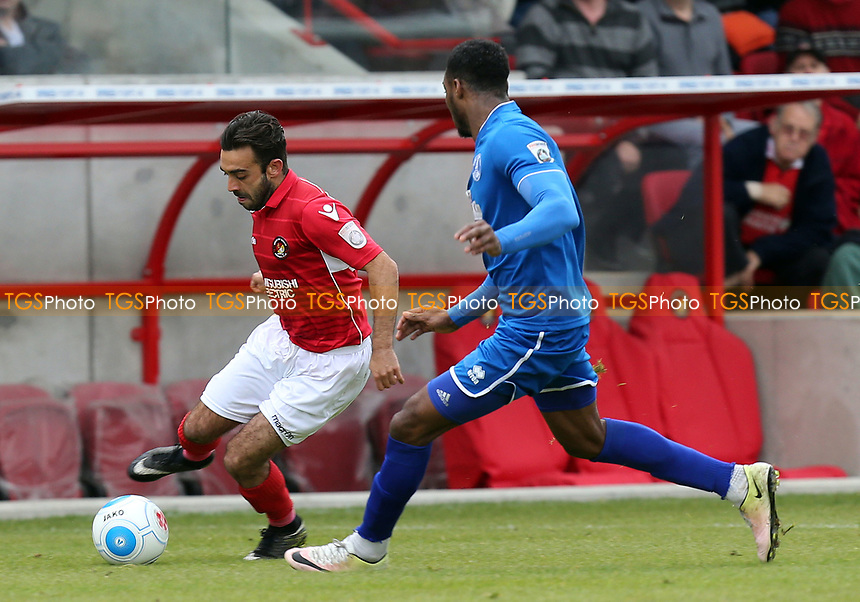 Bagasan Graham of Chelmsford City and Sam Deering of Ebbsfleet United during Ebbsfleet United vs Chelmsford City, Vanarama National League South Play-Off Final Football at The PHB Stadium on 13th May 2017