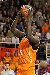 Baloncesto Fuelabrada's Mouhamed Saer Sene during Liga Endesa ACB match.October 30,2011. (ALTERPHOTOS/Acero)