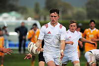 Fergus Burke in action during the rugby match between  New Zealand Schools Barbarians and NZ Maori Under-18 at the Sport and Rugby Institute in Palmerston North, New Zealand on Monday, 2 October 2017. Photo: Dave Lintott / lintottphoto.co.nz