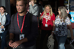 © Joel Goodman - 07973 332324 . 25/09/2016 . Liverpool , UK . Delegates leave the conference hall at the ACC in Liverpool , at the end of the first day of the Labour Party Conference . Photo credit : Joel Goodman