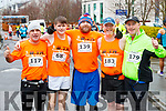 Kieran Nolan, Simon Hallissey, Brian O'Shea, Brian Whyte and Denis Walsh, all from Tralee, who took part in the Optimal Fitness 10 miler and 5k road race, at The Rose Hotel, Tralee, on Sunday morning last.