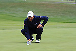 Tom Pernice Jr. putting on 6th green at Pebble Beach Golf links