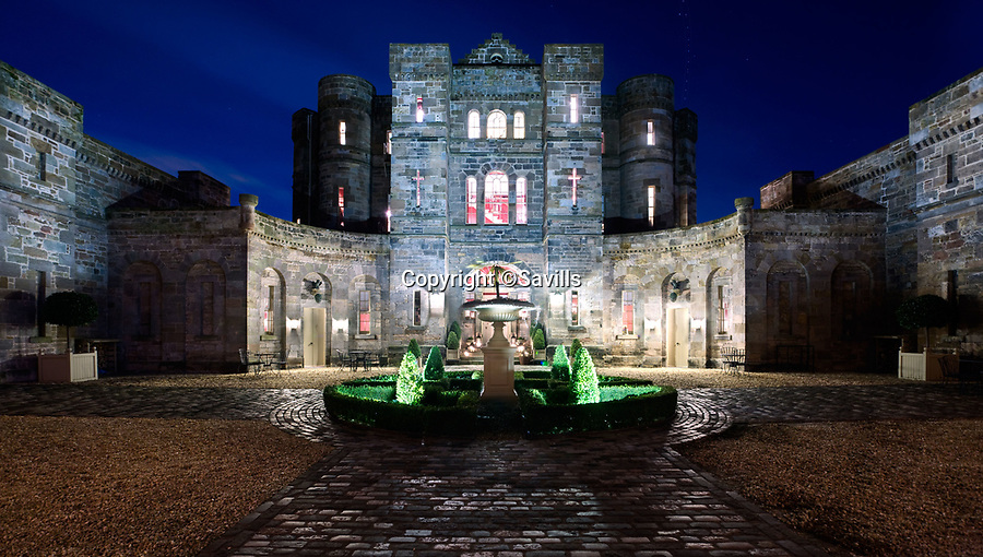 BNPS.co.uk (01202 558833)<br /> Pic: Savills/BNPS<br /> <br /> Every man's home may be his castle, but you'll need £8 million to buy this spectacular Scottish version that's the real thing.<br /> <br /> The impressive castle built on the site of one of Mary Queen of Scots' favourite retreats has just been put on the market.<br /> <br /> Seton Castle stands proudly in the East Lothian countryside in the same spot that used to be home to the royal Seton Palace.<br /> <br /> The palace, which was demolished in 1789, was regularly stayed in by the Scottish queen as well as her son James I.<br /> <br /> Its stone was used to build the current castle which was designed by acclaimed architect Robert Adam and completed in 1791.