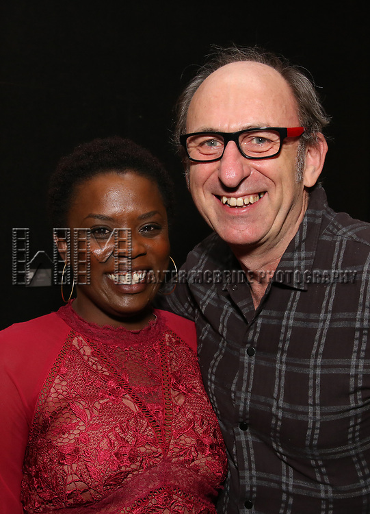 Antoinette Nwandu and David Cale attends The Vineyard Theatre's Emerging Artists Luncheon at The National Arts Club on November 9, 2017 in New York City.
