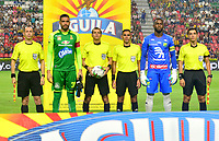 IBAGUÉ- COLOMBIA, 08-03-2019:Luis Trujillo Serna Referee central.Acción de juego entre los equipos Deportes Tolima y Alético Huila durante partido por la fecha 9 de la Liga Águila I 2019 jugado en el estadio Manuel Murillo Toro de la ciudad de Ibagué. /Central Referee Luis Trujillo Serna.Action game between Deportes Tolima and Atletico Huila during the match for the date 9 of the Liga Aguila I 2019 played at the Manuel Murillo Toro stadium in Ibague city. Photo: VizzorImage / Juan Carlos Escobar / Contribuidor