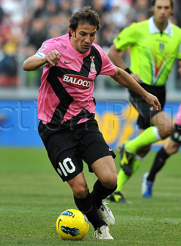 18.12.2011. Turin, Italy.   Alessandro DEL Piero Juventus   Series A 2011 2012 Juventus Torino vs Novara