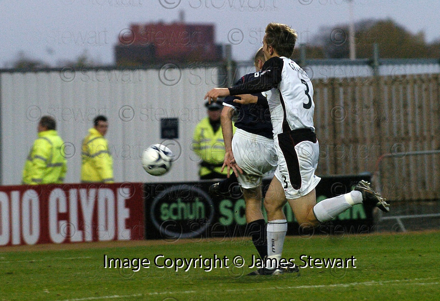 03/11/2007       Copyright Pic: James Stewart.File Name : sct_jspa06_falkirk_v_gretna.GRAHAM BARRETT SCORES FALKIRK'S SECOND.James Stewart Photo Agency 19 Carronlea Drive, Falkirk. FK2 8DN      Vat Reg No. 607 6932 25.Office     : +44 (0)1324 570906     .Mobile   : +44 (0)7721 416997.Fax         : +44 (0)1324 570906.E-mail  :  jim@jspa.co.uk.If you require further information then contact Jim Stewart on any of the numbers above........