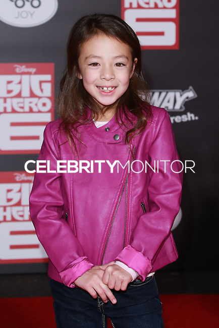 HOLLYWOOD, LOS ANGELES, CA, USA - NOVEMBER 04: Aubrey Anderson-Emmons arrives at the Los Angeles Premiere Of Disney's 'Big Hero 6' held at the El Capitan Theatre on November 4, 2014 in Hollywood, Los Angeles, California, United States. (Photo by David Acosta/Celebrity Monitor)