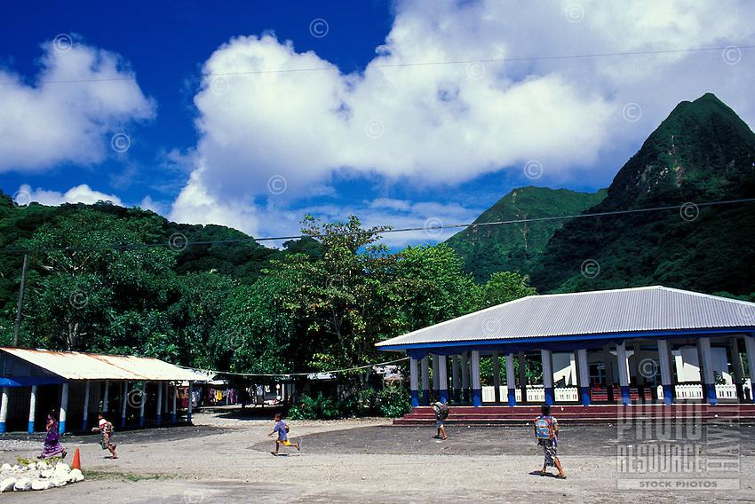 Fale at Afono, Tutuila, American Samoa
