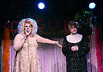 Sweetie and Sister Mary Helen during a performance of 'Ultimate Drag Off', the zaniest, live theatrical interactive game-show where audience members vote and crown the next drag superstar, at Triad Theatre on October 2, 2015 in New York City.