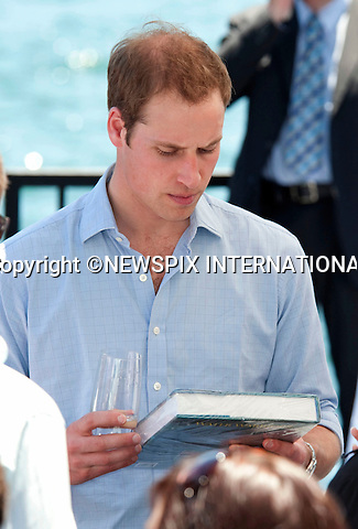 "PRINCE WILLIAM.Gets Water Warriors as a gift.Prince William attended a BBQ lunch with Christina Keneally (Premier of New South Wales). The BBQ was held at Mrs Macquaries Chair, Sydney with the beautiful backdrop of Sydney Harbour Bridge and the Sydney Opera House.William met a host of Sydney residents recived some gift, posed for a photo op with Christina Keneally and took a private boat ride on a RIB around the Harbour. Mrs Macquaries Chair, Sydney, Australia_20/01/2010..Mandatory Credit Photo: ©DIAS-NEWSPIX INTERNATIONAL..**ALL FEES PAYABLE TO: ""NEWSPIX INTERNATIONAL""**..IMMEDIATE CONFIRMATION OF USAGE REQUIRED:.Newspix International, 31 Chinnery Hill, Bishop's Stortford, ENGLAND CM23 3PS.Tel:+441279 324672  ; Fax: +441279656877.Mobile:  07775681153.e-mail: info@newspixinternational.co.uk"