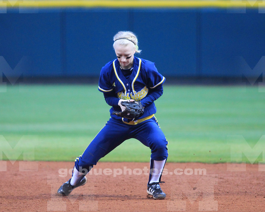 The University of Michigan softball team defeated Louisiana Tech 7-6 in the LSU Classic in Baton Rouge, La., on February 10, 2012.