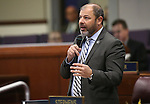 Nevada Assembly Majority Leader Paul Anderson, R- Las Vegas, speaks on the Assembly floor during a special session at the Nevada Legislature in Carson City, Nev. on Tuesday, Oct. 11, 2016. <br /> Photo by Cathleen Allison