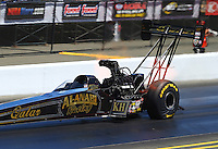 Jul. 26, 2014; Sonoma, CA, USA; NHRA top fuel driver Khalid Albalooshi during qualifying for the Sonoma Nationals at Sonoma Raceway. Mandatory Credit: Mark J. Rebilas-