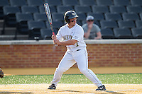 Joey Rodriguez (7) of the Wake Forest Demon Deacons at bat against the High Point Panthers at Wake Forest Baseball Park on April 2, 2014 in Winston-Salem, North Carolina.  The Demon Deacons defeated the Panthers 10-6.  (Brian Westerholt/Four Seam Images)