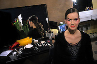 Backstage,Palestine Fashion Designer Jamal Taslaq  featured at Rome Fashion Week,Fashion show. Presentation of S/S 2013.Italian Haute Couture collection, January 28, 2013