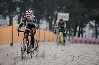 Later winner Lucida Brand (NED/Team Sunweb) plowing through the sand. <br /> <br /> women's elite race<br /> Lampiris Zilvermeercross Mol / Belgium 2017