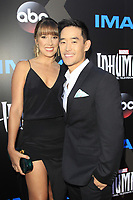 "LOS ANGELES - AUG 28:  Mike Moh, Richelle Moh at the ABC and Marvel's ""Inhumans"" Premiere Screening at the Universal City Walk on August 28, 2017 in Los Angeles, CA"