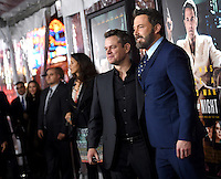 Ben Affleck + Matt Damon @ the premiere of 'Live By Night' held @ the Chinese theatre. January 9, 2017