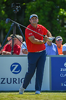 Patrick Reed (USA) watches his tee shot on 8 during Round 1 of the Zurich Classic of New Orl, TPC Louisiana, Avondale, Louisiana, USA. 4/26/2018.<br /> Picture: Golffile | Ken Murray<br /> <br /> <br /> All photo usage must carry mandatory copyright credit (&copy; Golffile | Ken Murray)